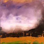 Ganas #19, mixed media painting by Jay Hodgins | Effusion Art Gallery + Cast Glass Studio, Invermere BC