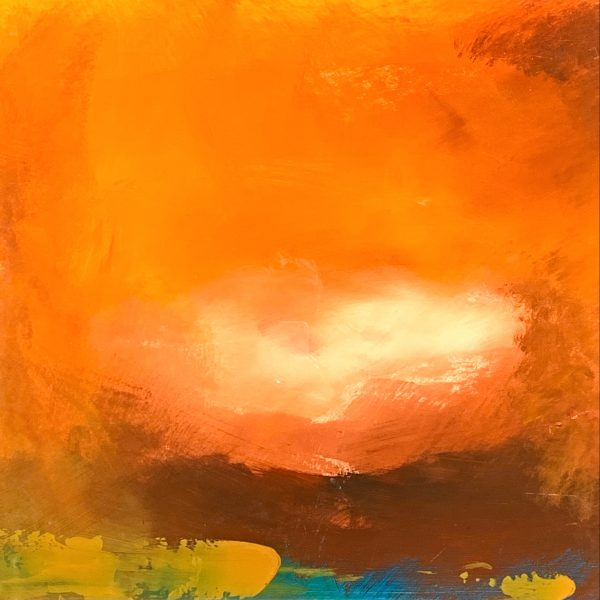 Ombak #12, mixed media painting by Jay Hodgins | Effusion Art Gallery + Cast Glass Studio, Invermere BC