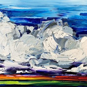 A Change in Weather Might do you Good, landscape painting by Kimberly Kiel   Effusion Art Gallery + Cast Glass Studio, Invermere BC