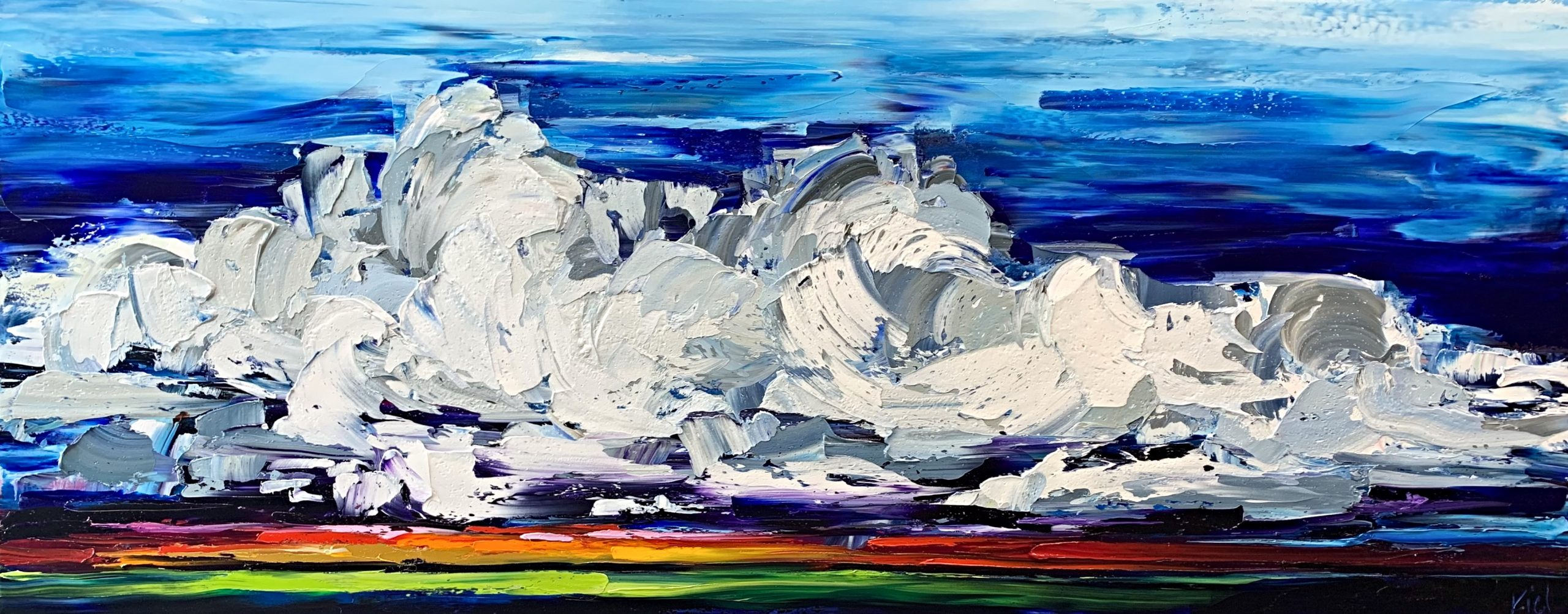 A Change in Weather Might do you Good, landscape painting by Kimberly Kiel | Effusion Art Gallery + Cast Glass Studio, Invermere BC