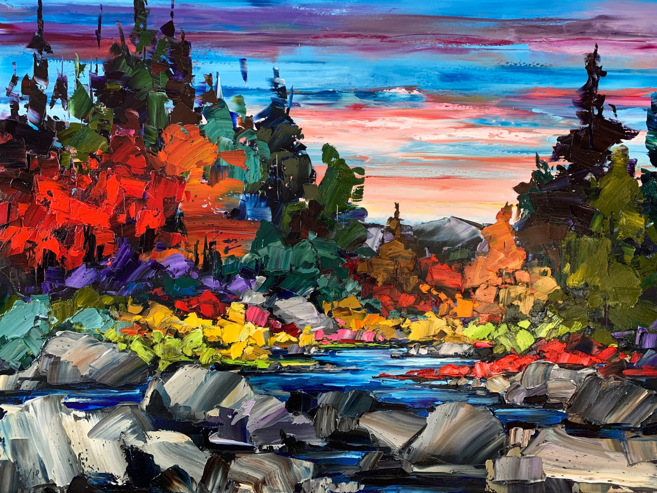 Another Time, Another Place, landscape painting by Kimberly Kiel | Effusion Art Gallery + Cast Glass Studio, Invermere BC