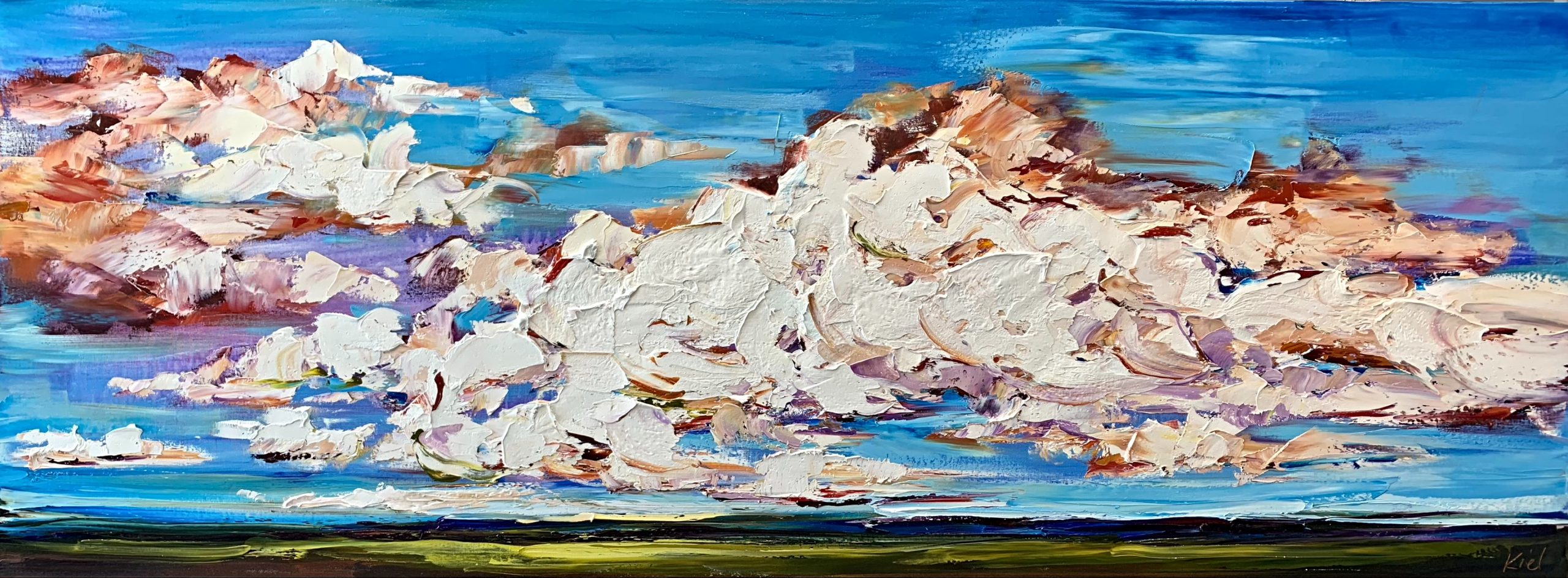 Bring on the Wonder, landscape painting by Kimberly Kiel   Effusion Art Gallery + Cast Glass Studio, Invermere BC