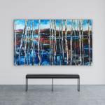 Follow My Tracks by Kimberly Kiel   Effusion Art Gallery + Cast Glass Studio, Invermere BC