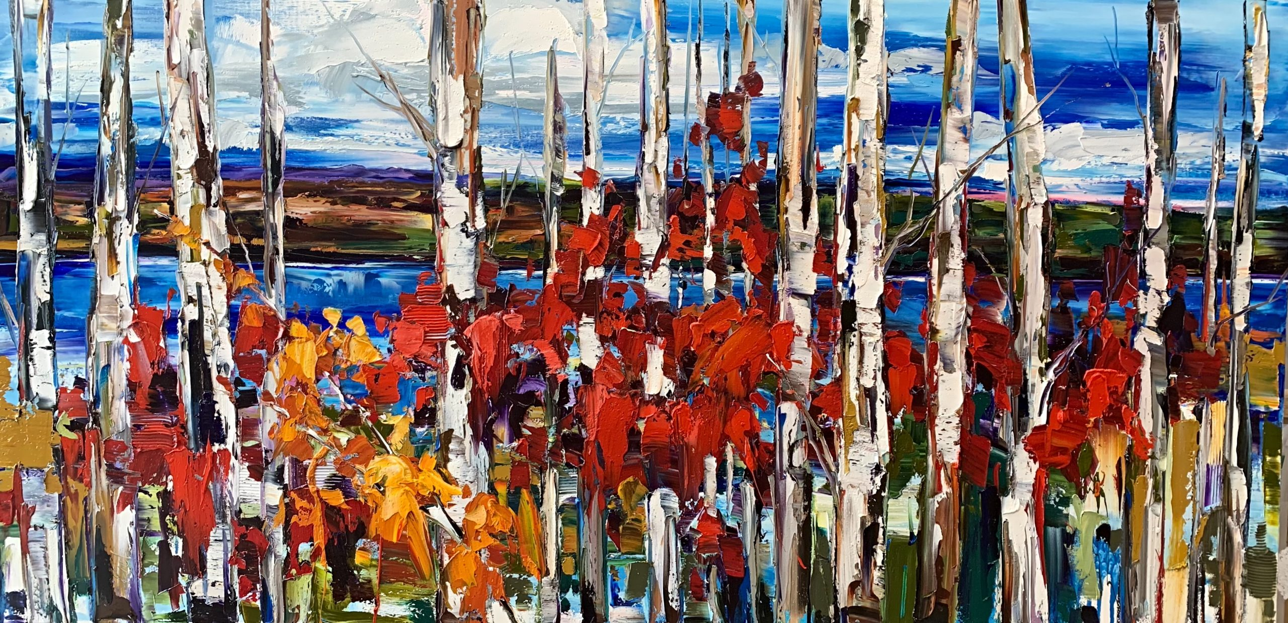 It Can Happen Anytime, landscape painting by Kimberly Kiel | Effusion Art Gallery + Cast Glass Studio, Invermere BC