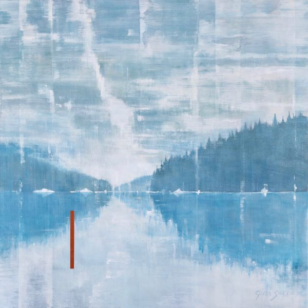 Feeling You Close, acrylic landscape painting by Gina Sarro   Effusion Art Gallery + Cast Glass Studio, Invermere BC