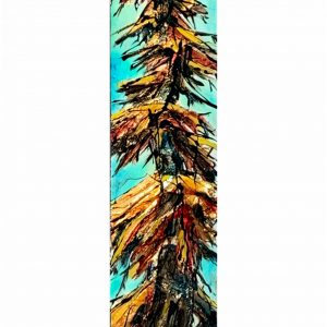 Agreed with That, mixed media tree painting by David Zimmerman   Effusion Art Gallery + Cast Glass Studio, Invermere BC