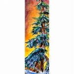 Raises Questions, mixed media tree painting by David Zimmerman | Effusion Art Gallery + Cast Glass Studio, Invermere BC