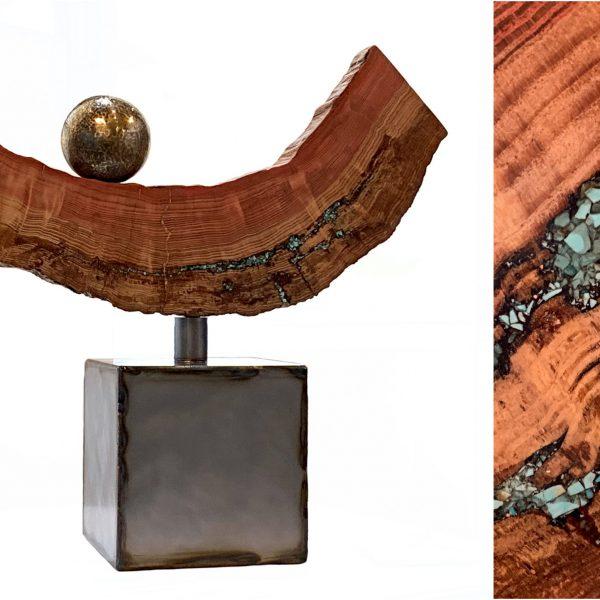 Beacon Hill, mixed media sculpture by Karyn Chopik | Effusion Art Gallery + Cast Glass Studio, Invermere BC