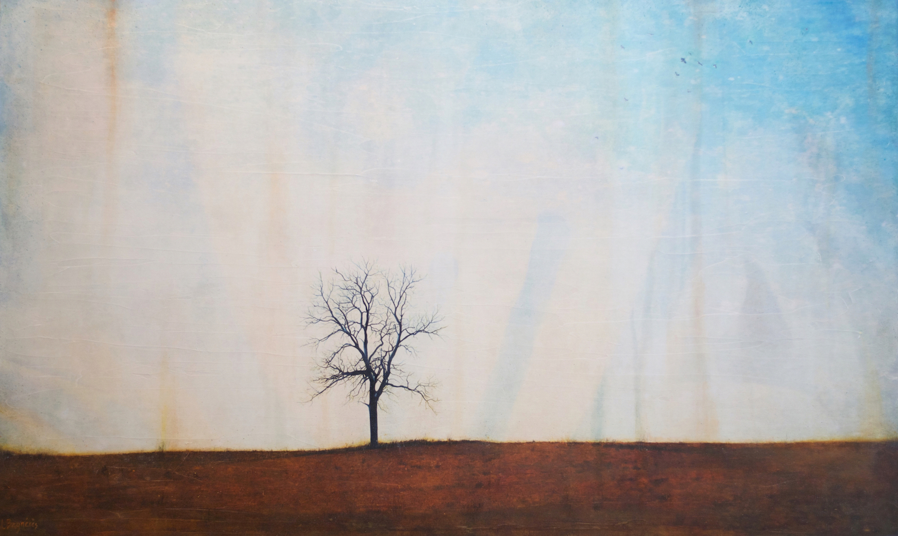 Freedom Found, mixed media tree painting by Lori Bagneres | Effusion Art Gallery + Cast Glass Studio, Invermere BC