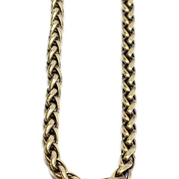 Braided bronze chain by Karyn Chopik | Effusion Art Gallery + Cast Glass Studio, Invermere BC