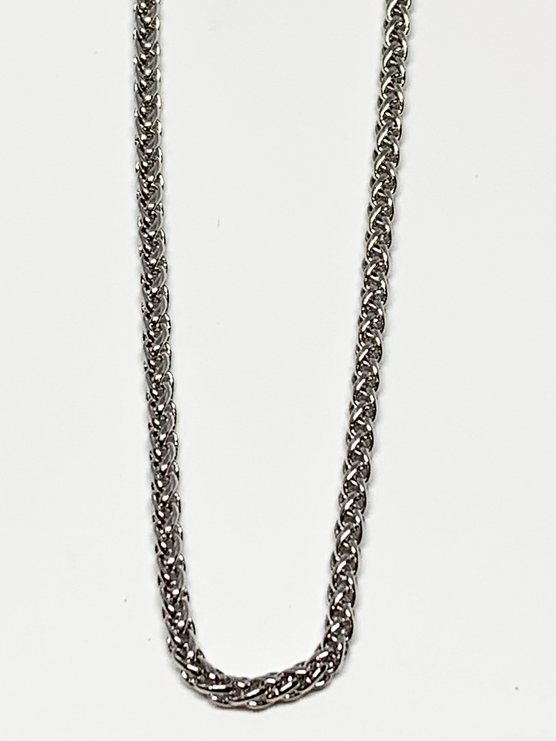 Braided sterling silver chain by Karyn Chopik | Effusion Art Gallery + Cast Glass Studio, Invermere BC