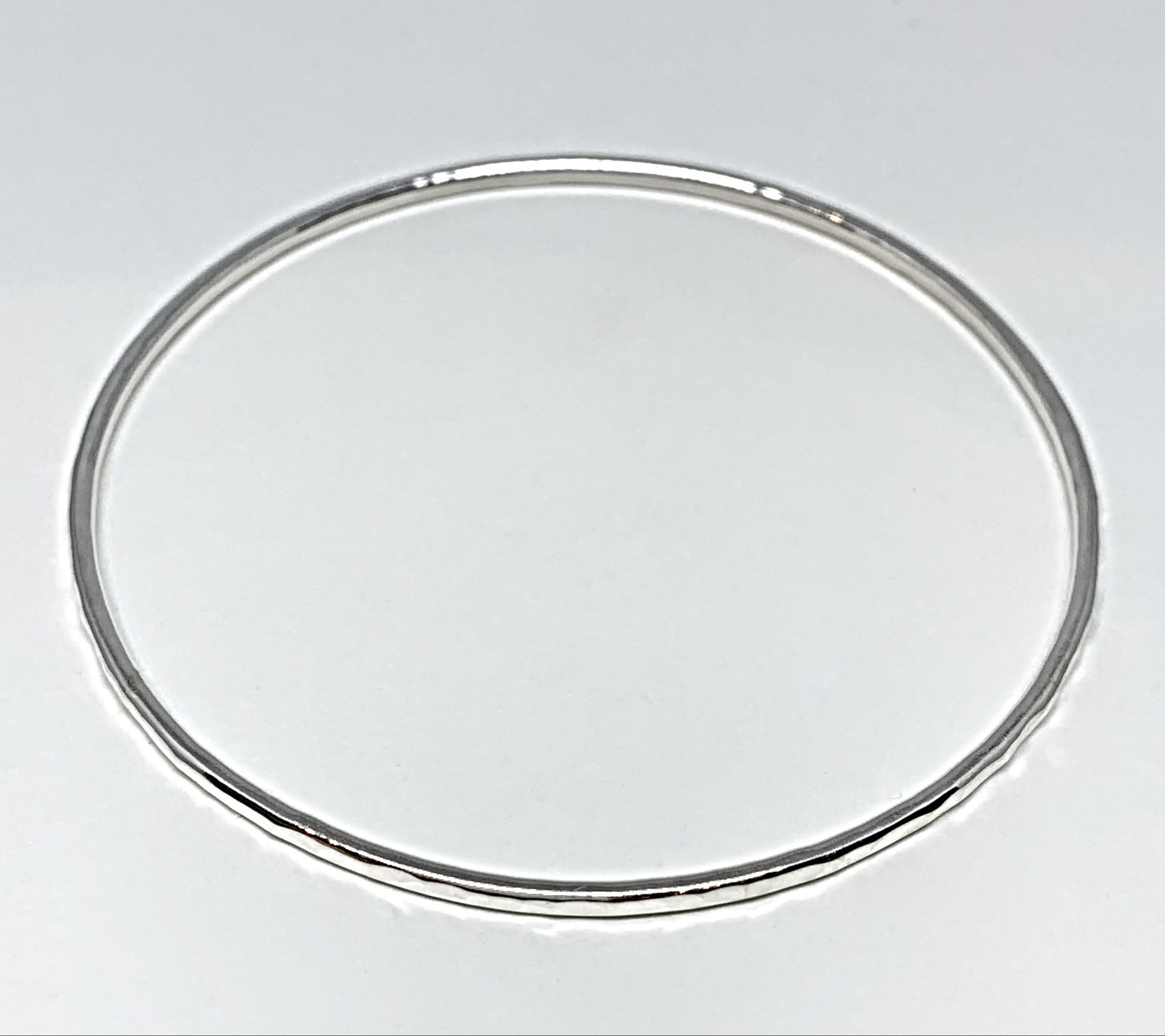 Sterling silver bangle by Karyn Chopik | Effusion Art Gallery + Cast Glass Studio, Invermere BC