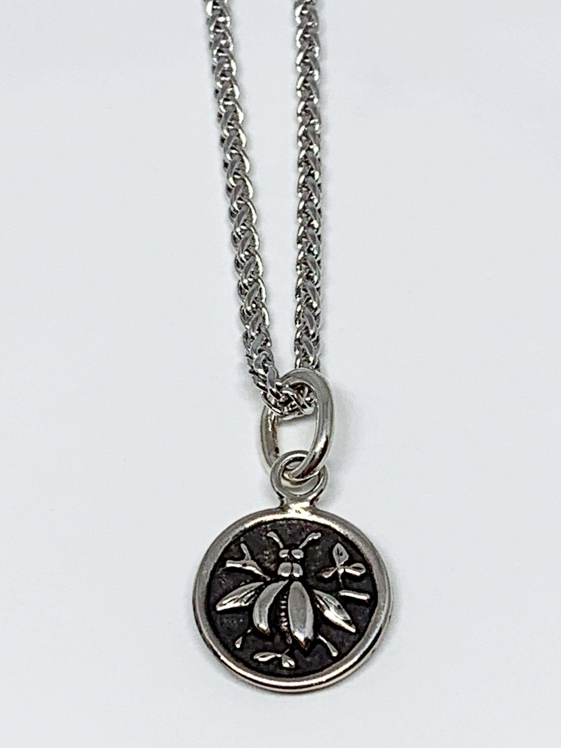Sterling silver bee pendant by Karyn Chopik | Effusion Art Gallery + Cast Glass Studio, Invermere BC