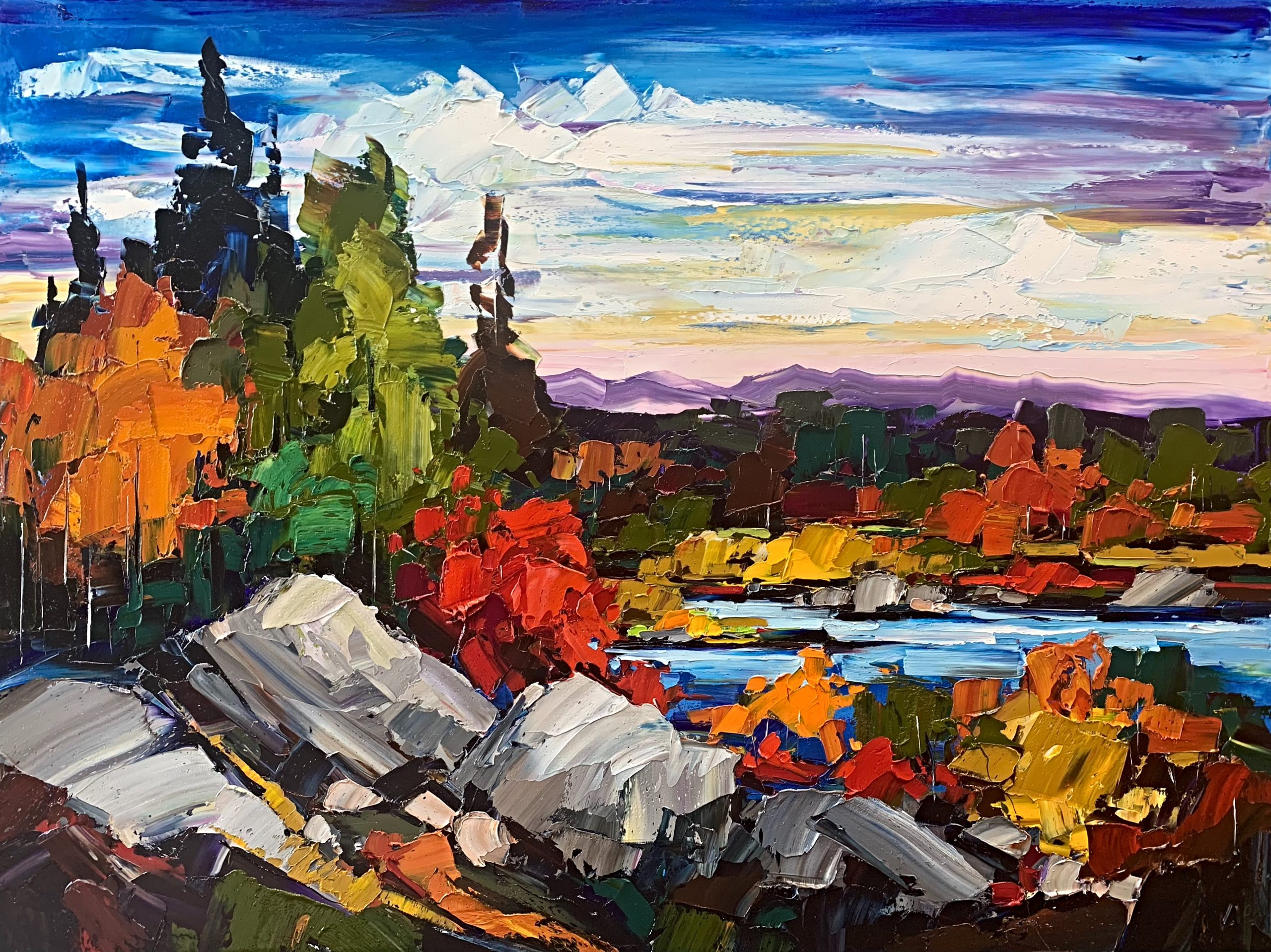 Time for Yourself, oil landscape painting by Kimberly Kiel | Effusion Art Gallery + Cast Glass Studio, Invermere BC
