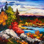Took the Long Way Home, oil landscape painting by Kimberly Kiel | Effusion Art Gallery + Cast Glass Studio, Invermere BC