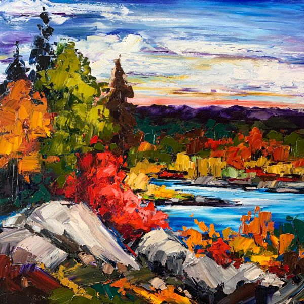 Took the Long Way Home, oil landscape painting by Kimberly Kiel   Effusion Art Gallery + Cast Glass Studio, Invermere BC