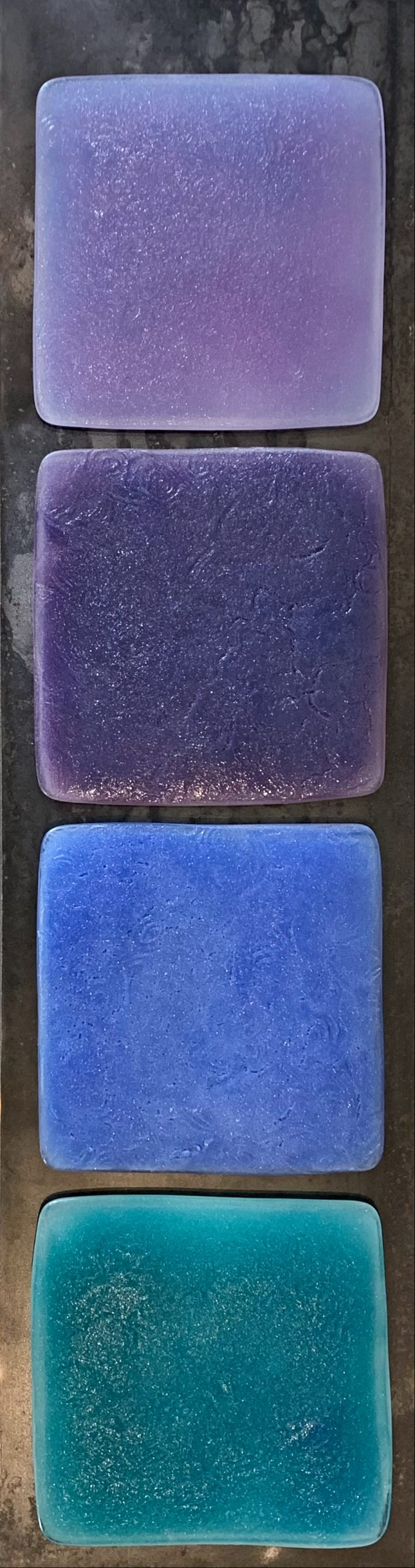 Shift, cast glass and steel panel by Heather Cuell | Effusion Art Gallery + Cast Glass Studio, Invermere BC