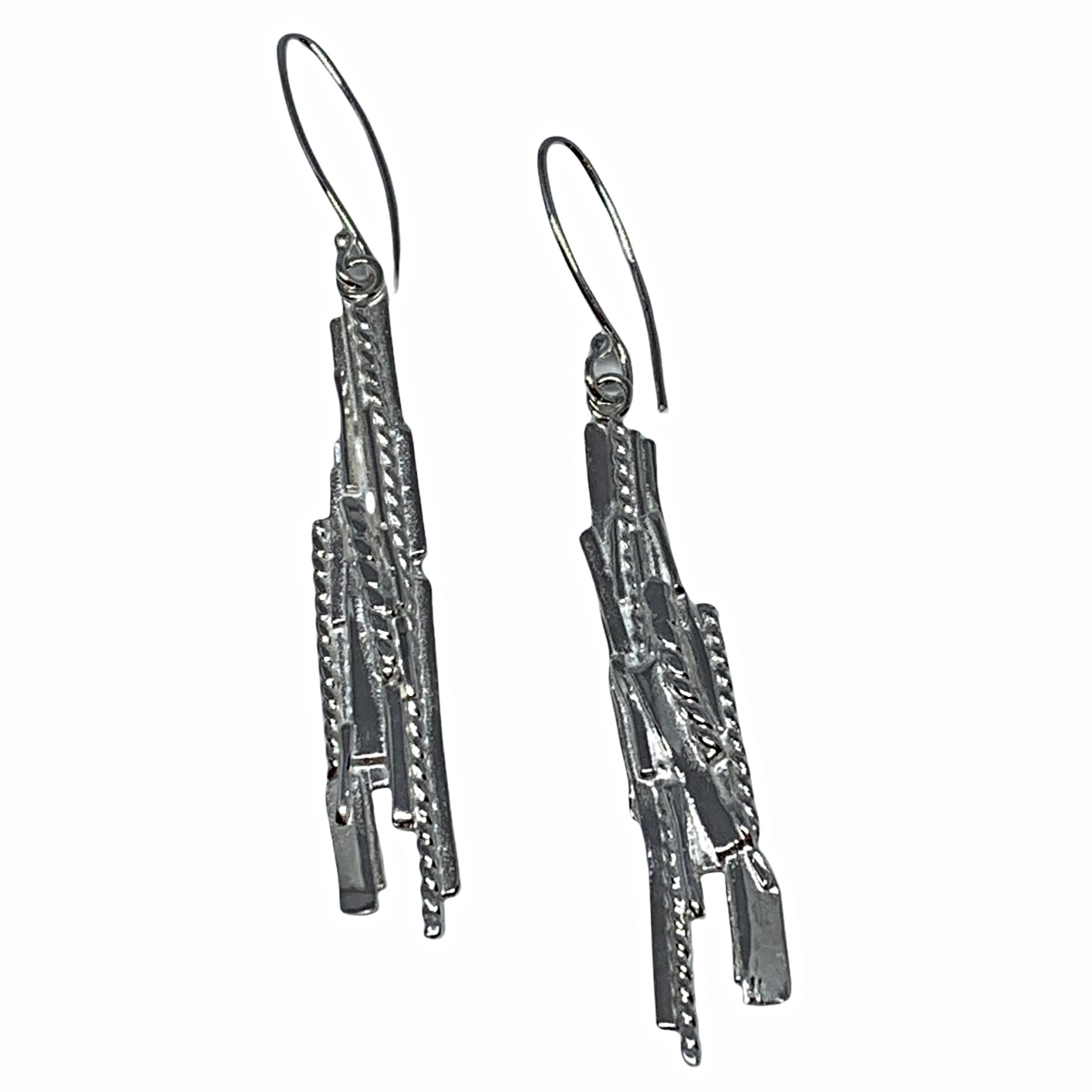 Handmade sterling silver earrings by A&R Jewellery | Effusion Art Gallery + Cast Glass Studio, Invermere BC