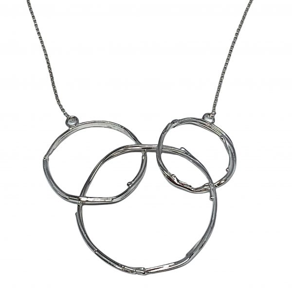 Handmade sterling silver necklace by A&R Jewellery | Effusion Art Gallery + Cast Glass Studio, Invermere BC