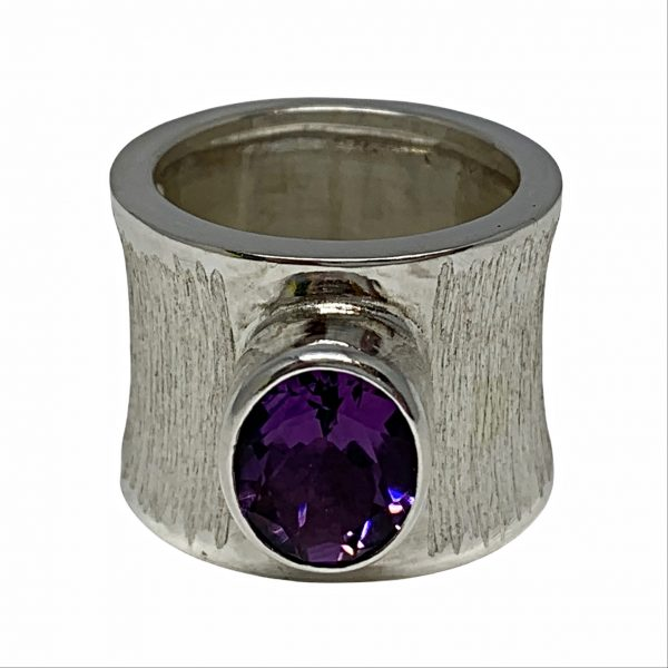 Sterling silver and amethyst ring by A&R Jewellery   Effusion Art Gallery + Cast Glass Studio, Invermere BC