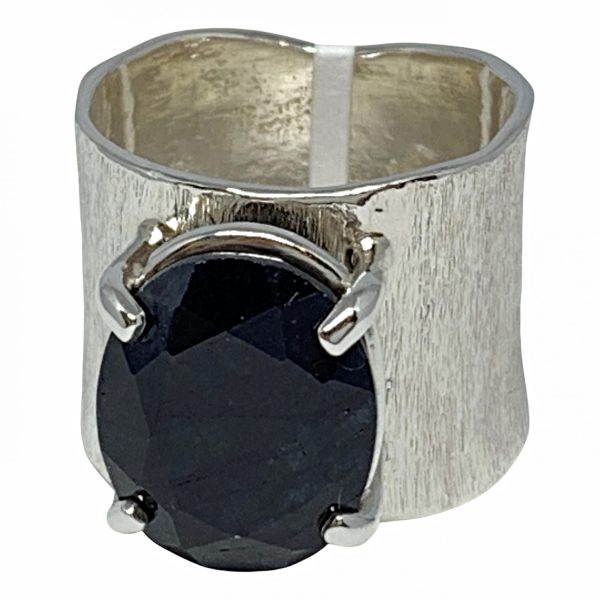Sterling silver and sapphire ring by A&R Jewellery   Effusion Art Gallery + Cast Glass Studio, Invermere BC
