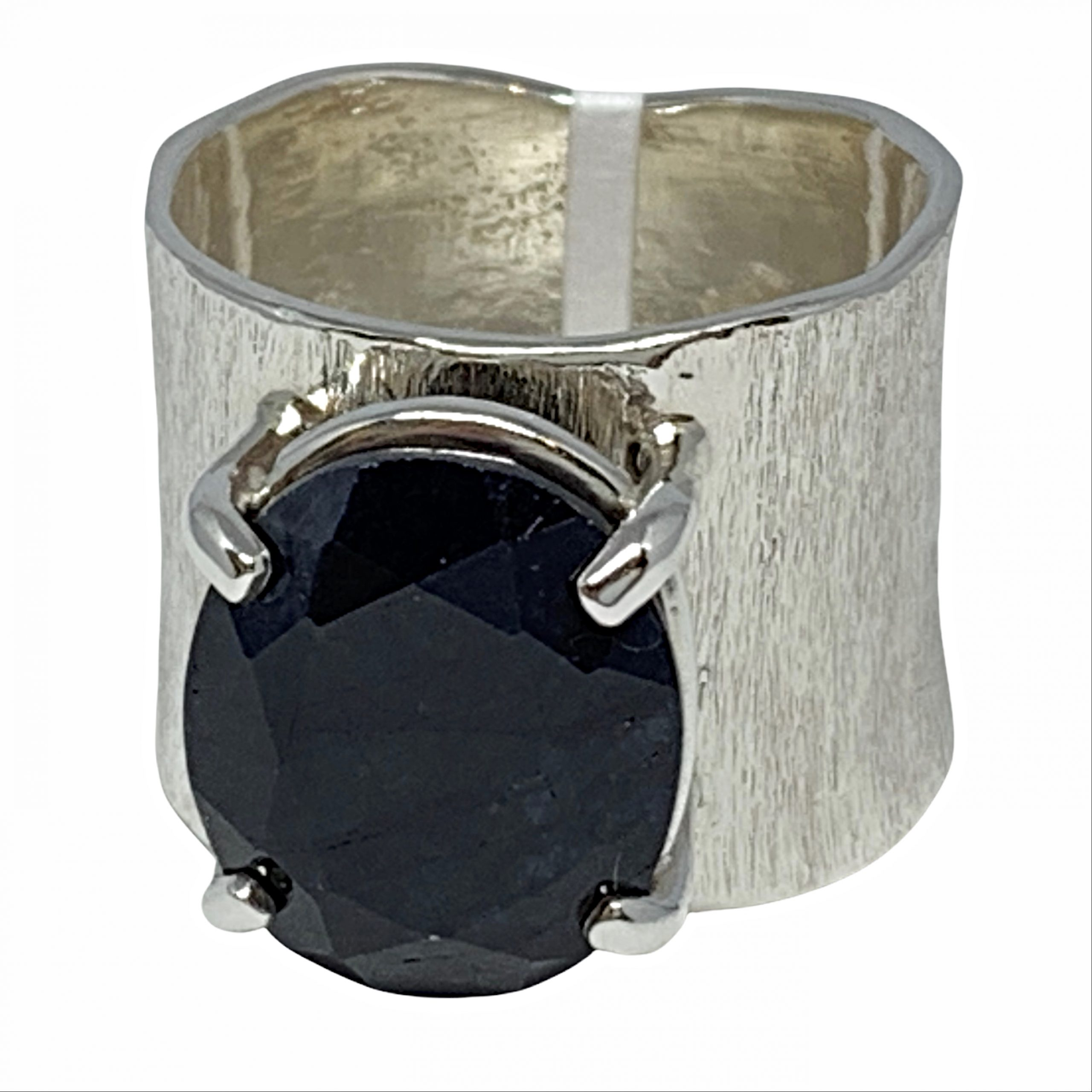 Sterling silver and sapphire ring by A&R Jewellery | Effusion Art Gallery + Cast Glass Studio, Invermere BC