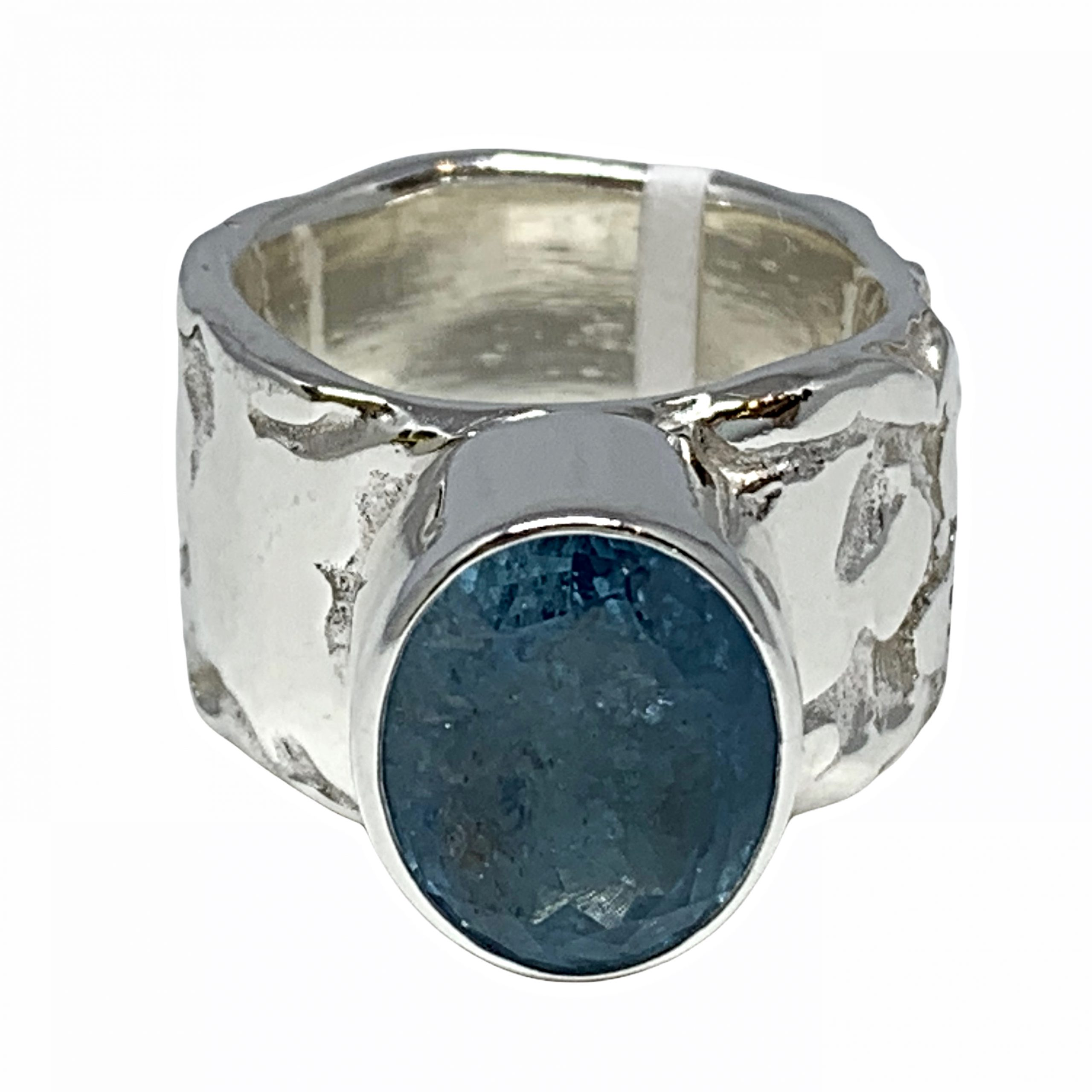 Sterling silver and aquamarine ring by A&R Jewellery | Effusion Art Gallery + Cast Glass Studio, Invermere BC