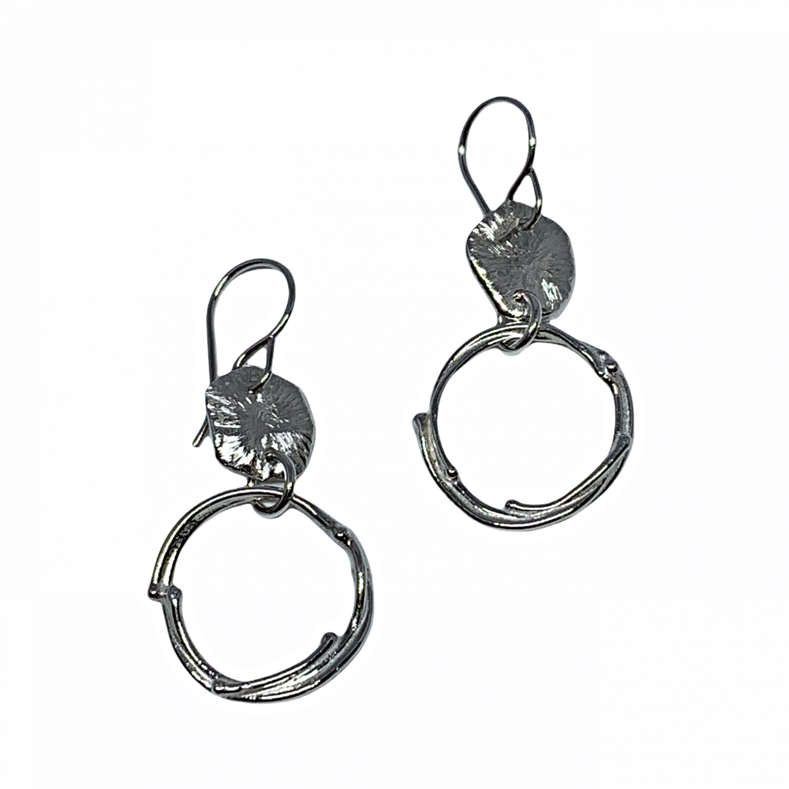 Handmade sterling silver earrings by A&R Jewellery   Effusion Art Gallery + Cast Glass Studio, Invermere BC