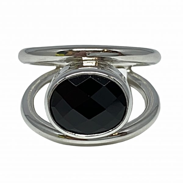 Sterling silver and spinel ring by A&R Jewellery   Effusion Art Gallery + Cast Glass Studio, Invermere BC