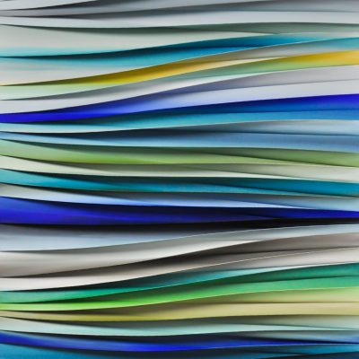 Blue Valley, mixed media abstract painting by Melanie Giguere   Effusion Art Gallery + Cast Glass Studio, Invermere BC