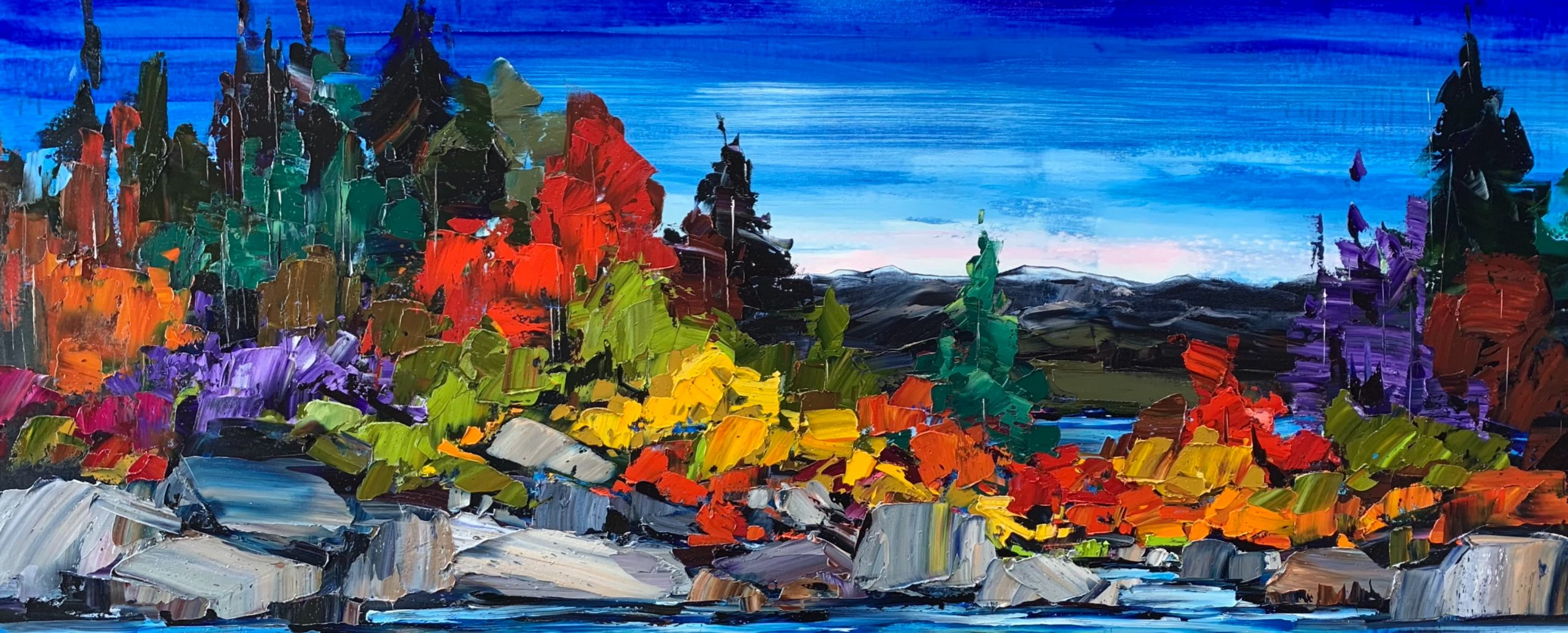 Bring it on Home, oil landscape painting by Kimberly Kiel | Effusion Art Gallery + Cast Glass Studio, Invermere BC