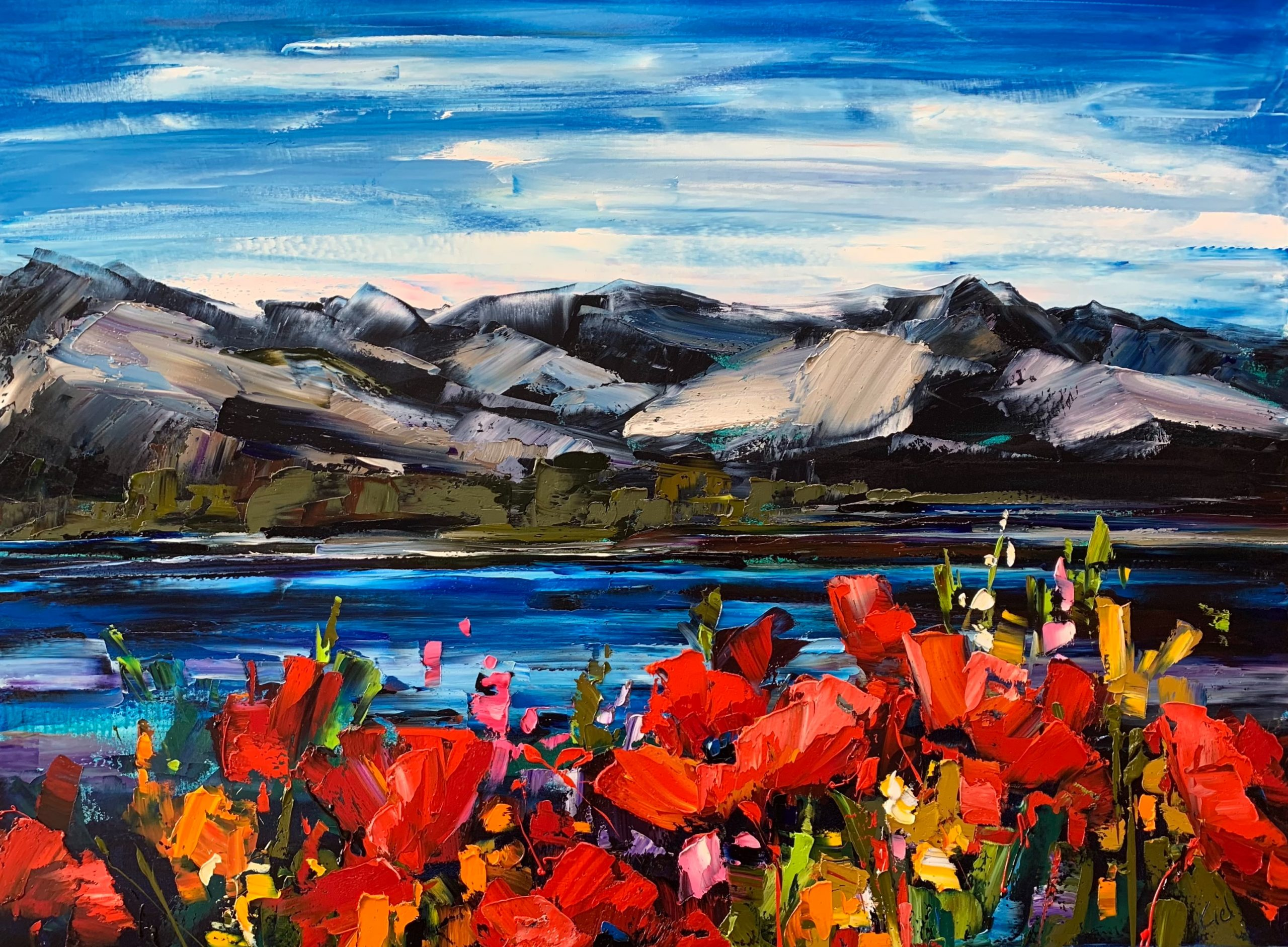 Serendipity, oil landscape painting by Kimberly Kiel | Effusion Art Gallery + Cast Glass Studio, Invermere BC