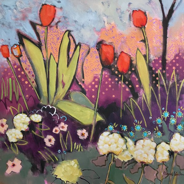 We are Ready, acrylic painting by Eleanor Lowden | Effusion Art Gallery + Cast Glass Studio, Invermere BC