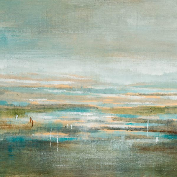 Lost in the Horizon, abstract landscape painting by Gina Sarro | Effusion Art Gallery + Cast Glass Studio, Invermere BC