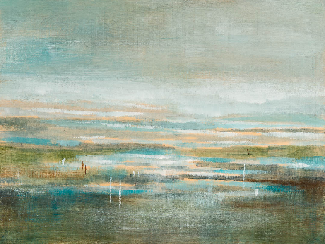 Lost in the Horizon, abstract landscape painting by Gina Sarro   Effusion Art Gallery + Cast Glass Studio, Invermere BC