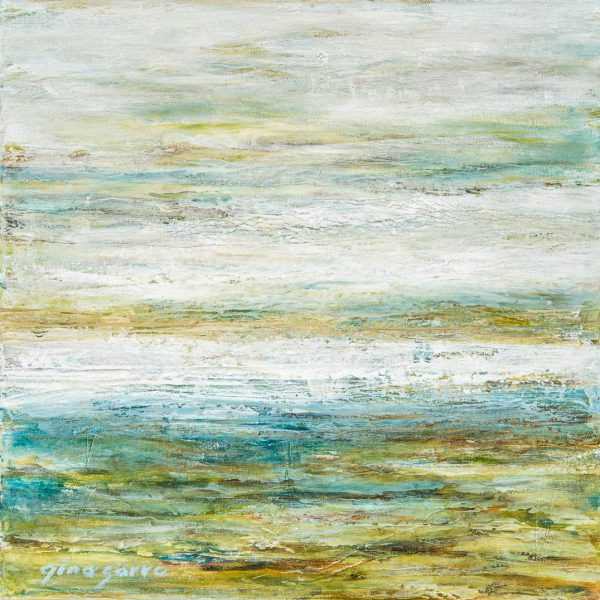Quiet Afternoon, abstract landscape painting by Gina Sarro | Effusion Art Gallery + Cast Glass Studio, Invermere BC