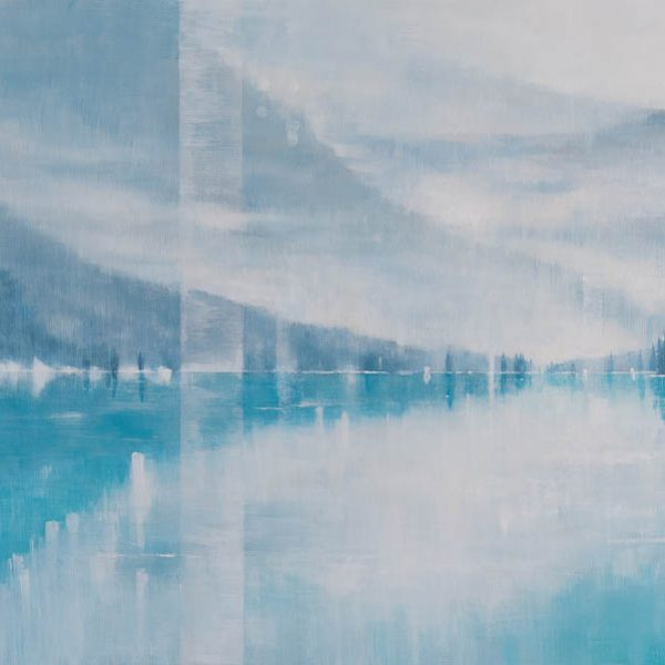 Time of Silence, abstract landscape painting by Gina Sarro   Effusion Art Gallery + Cast Glass Studio, Invermere BC