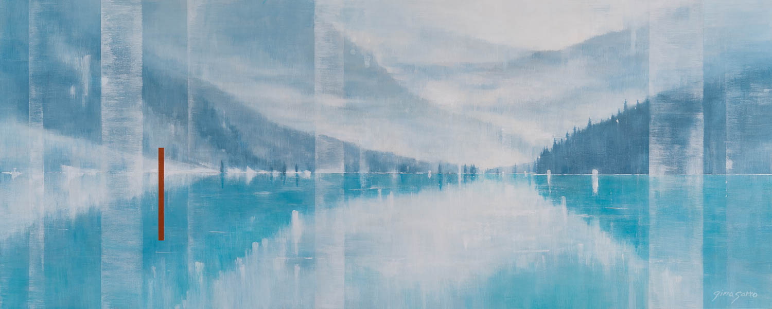 Time of Silence, abstract landscape painting by Gina Sarro | Effusion Art Gallery + Cast Glass Studio, Invermere BC