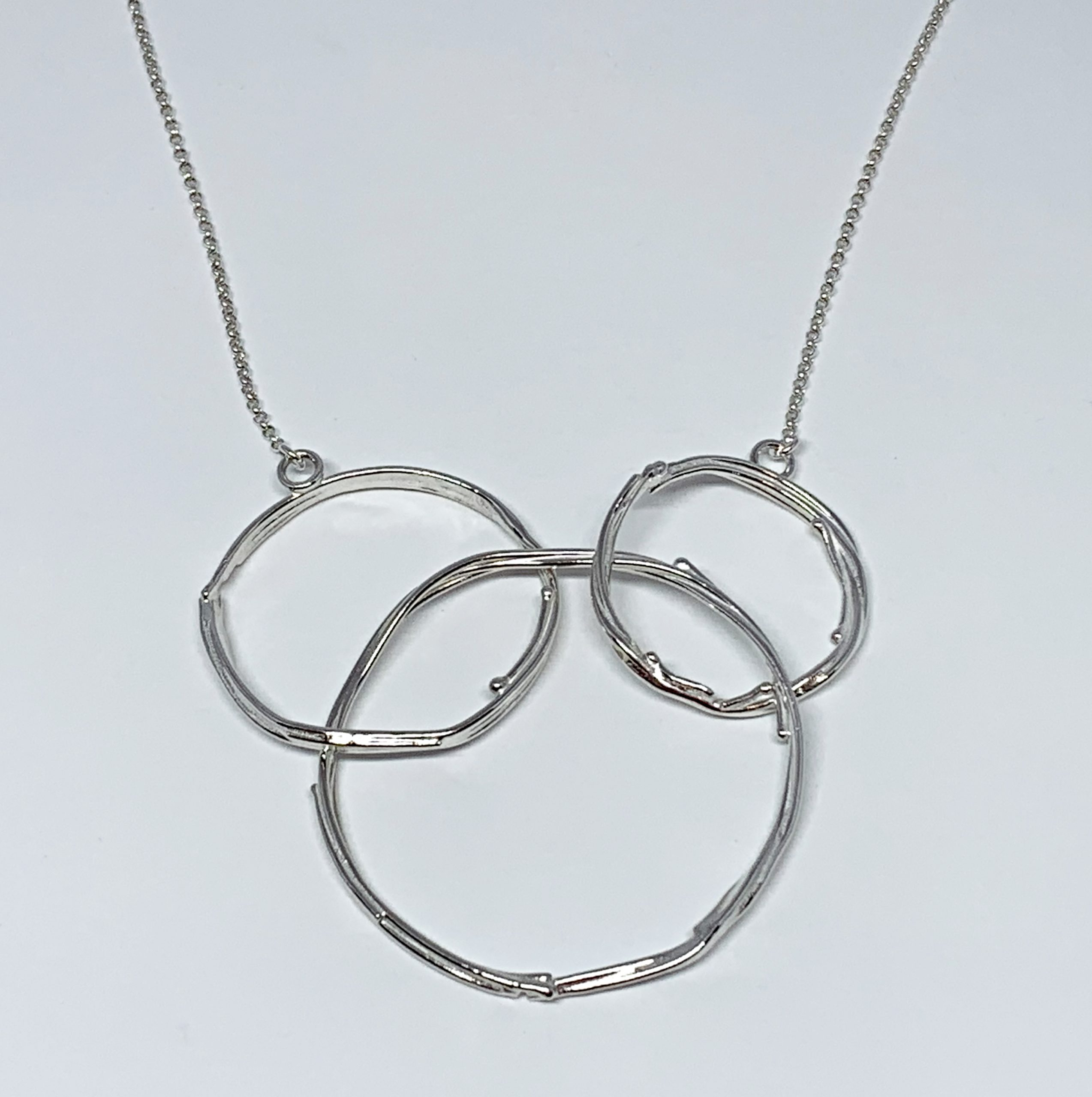 Sterling silver necklace by A&R Jewellery | Effusion Art Gallery + Cast Glass Studio, Invermere BC
