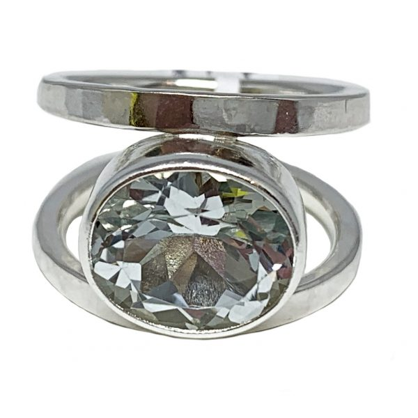 Sterling silver and 9.5 ct white topaz ring by A&R Jewellery   Effusion Art Gallery + Cast Glass Studio, Invermere BC