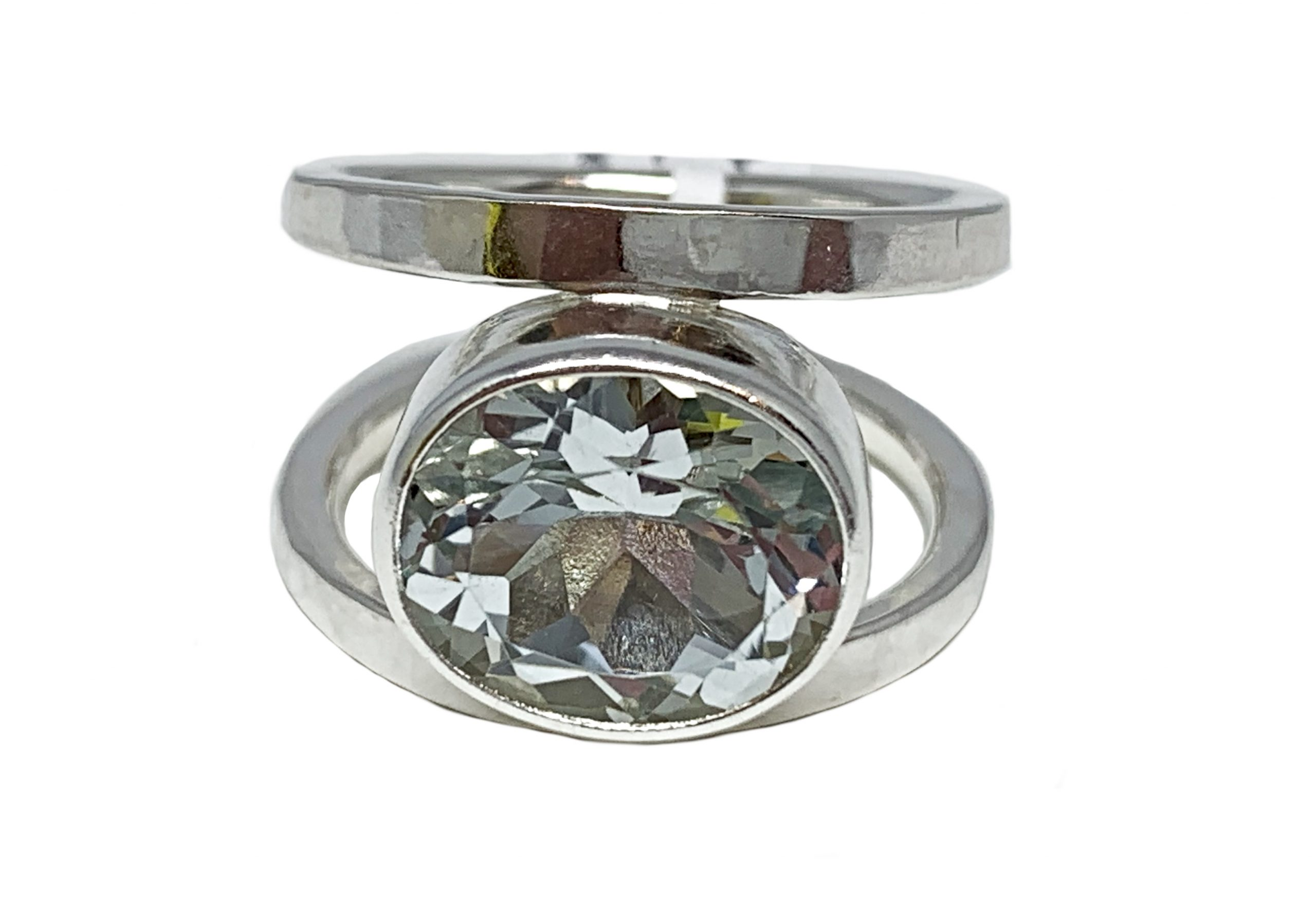 Sterling silver and 9.5 ct white topaz ring by A&R Jewellery | Effusion Art Gallery + Cast Glass Studio, Invermere BC