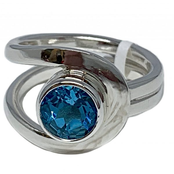 Sterling silver and 2.5 ct Swiss topaz ring by A&R Jewellery   Effusion Art Gallery + Cast Glass Studio, Invermere BC