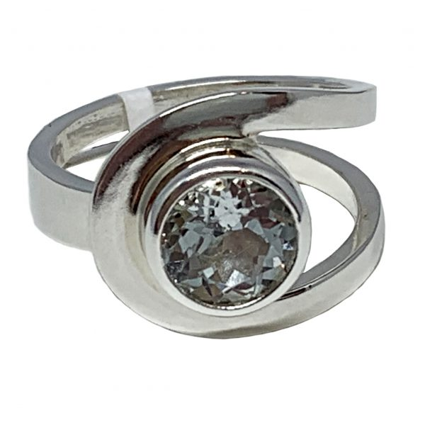 Sterling silver and 2.5 ct white topaz ring by A&R Jewellery   Effusion Art Gallery + Cast Glass Studio, Invermere BC