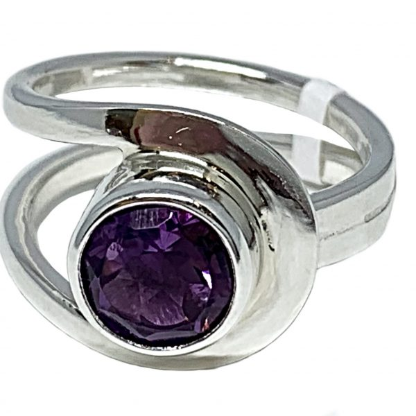 Sterling silver and 2.5 ct amethyst ring by A&R Jewellery   Effusion Art Gallery + Cast Glass Studio, Invermere BC