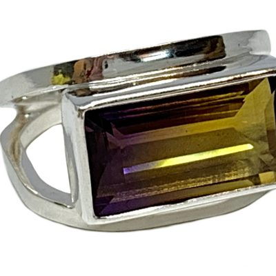 Sterling silver and 8 ct ametrine ring by A&R Jewellery   Effusion Art Gallery + Cast Glass Studio, Invermere BC