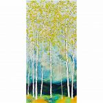 Summer Storm, encaustic landscape painting by Catharine Clarke | Effusion Art Gallery + Cast Glass Studio, Invermere BC