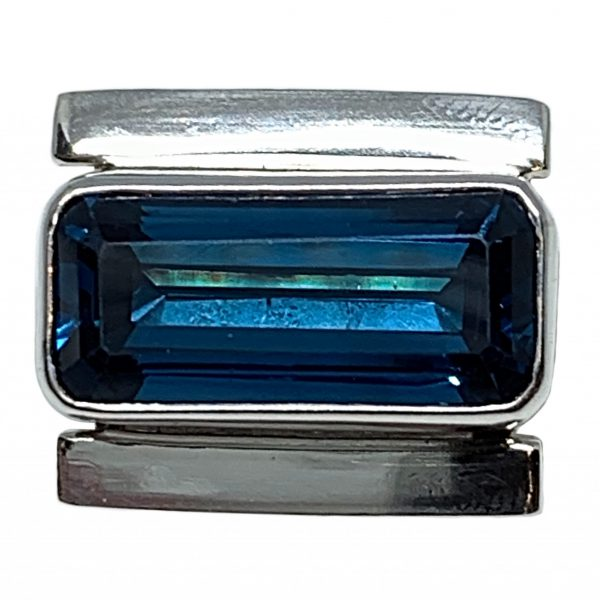 Sterling silver and 8 ct London blue topaz ring by A&R Jewellery   Effusion Art Gallery + Cast Glass Studio, Invermere BC