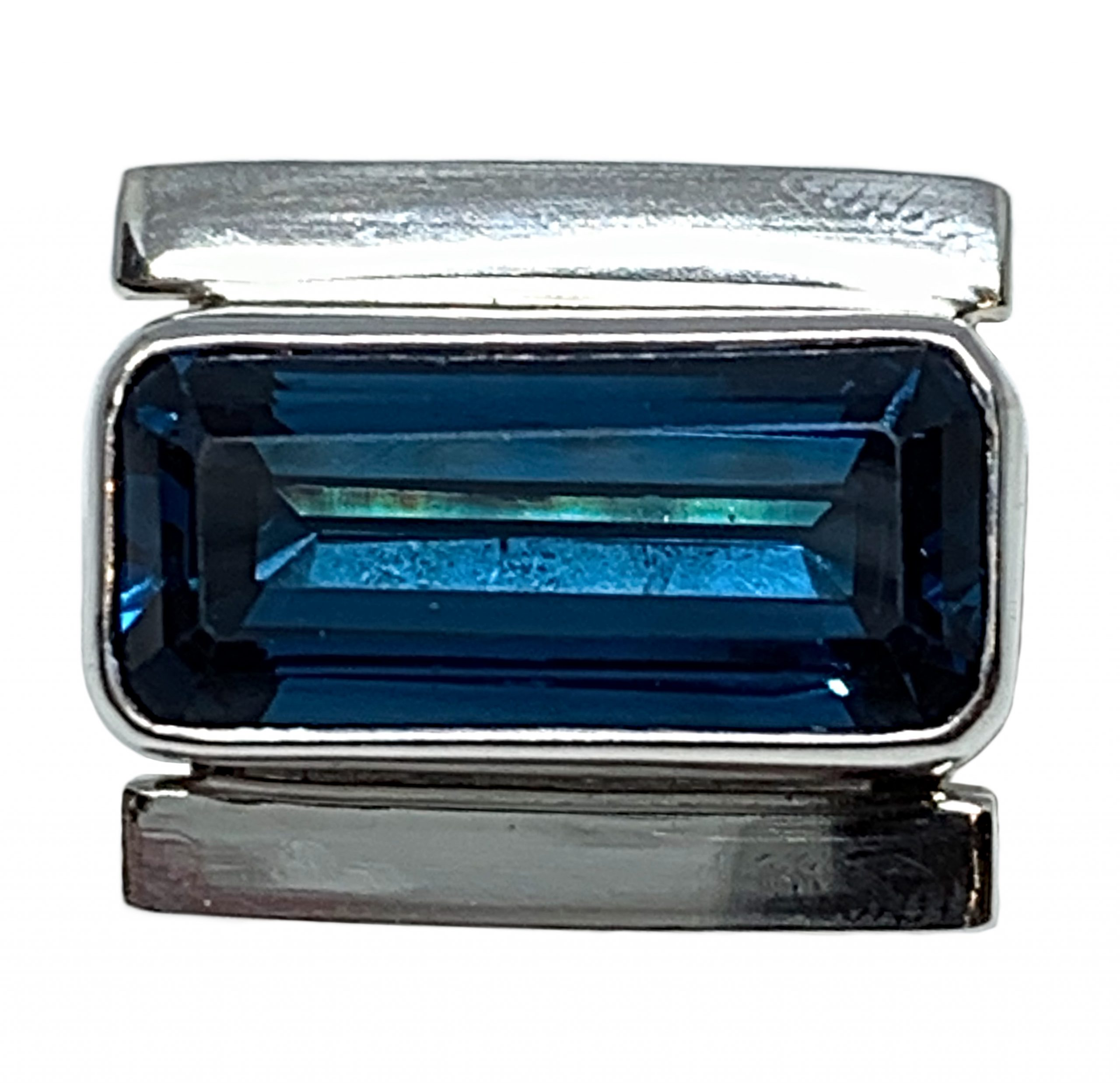 Sterling silver and 8 ct London blue topaz ring by A&R Jewellery | Effusion Art Gallery + Cast Glass Studio, Invermere BC