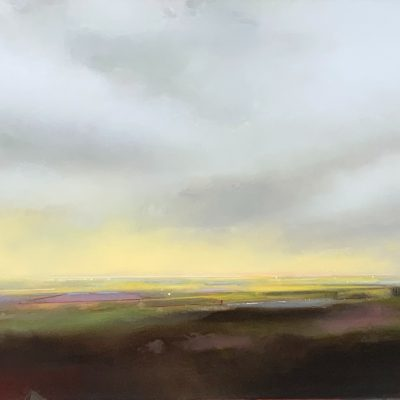 Morning Light 4, landscape and sky painting by Joe Fidia   Effusion Art Gallery + Cast Glass Studio, Invermere BC