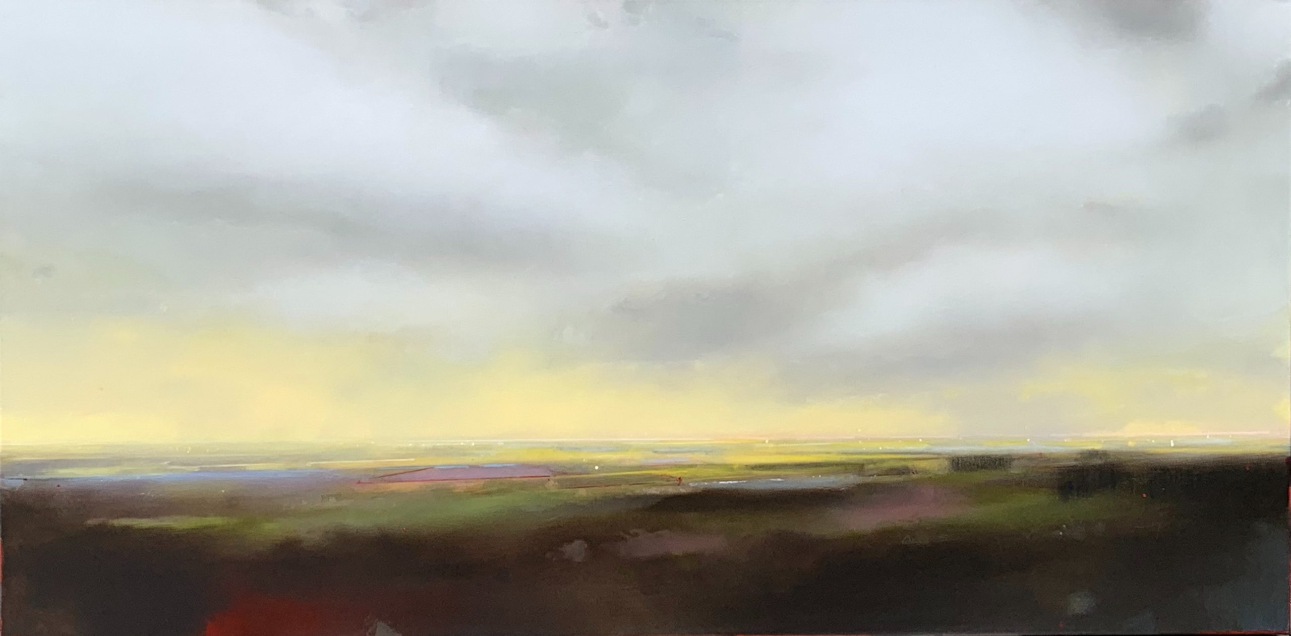Morning Light 4, landscape and sky painting by Joe Fidia | Effusion Art Gallery + Cast Glass Studio, Invermere BC